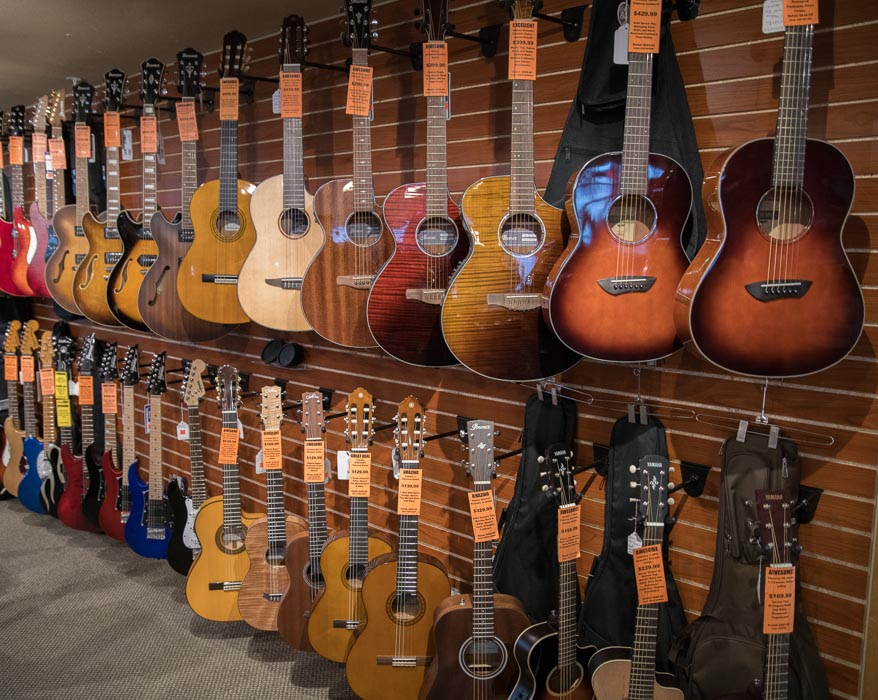 Acoustic, Classical, Acoustic Electric, Electric and Bass Guitars
