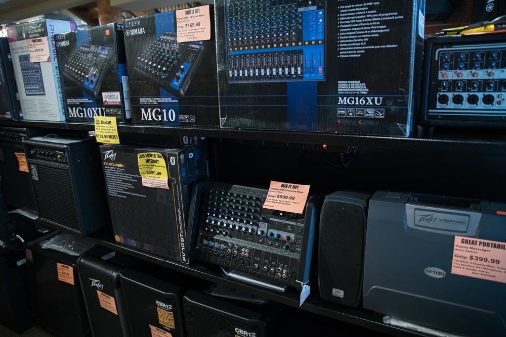 Yamaha and Peavey Mixers and Mixer Boards