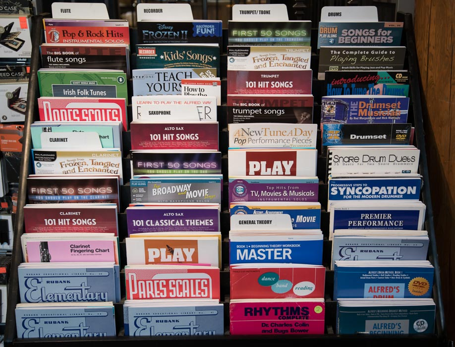 Flute, Clarinet, Oboe, Recorder, Saxophone, Trumpet, Trombone, Drum, Percussion, Theory Sheet Music and Books