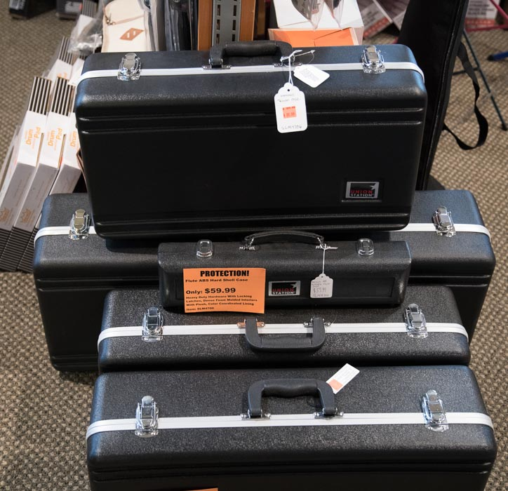 Woodwind and Brass Cases for Flute, Clarinet, Alto Saxophone, Tenor Saxophone, Trumpet, Trombone and French Horn