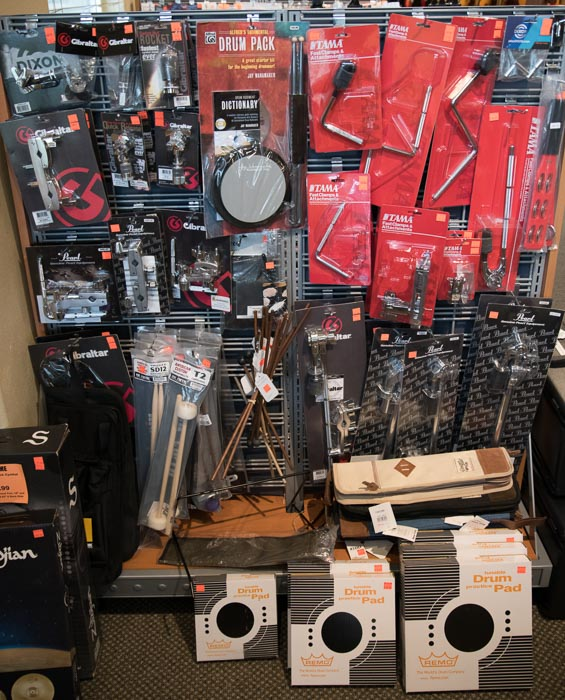 Drum Sticks, Brushes, Orchestral Mallets, Chimes, Hand Drums, Stick Bags, Drum Set Hardware