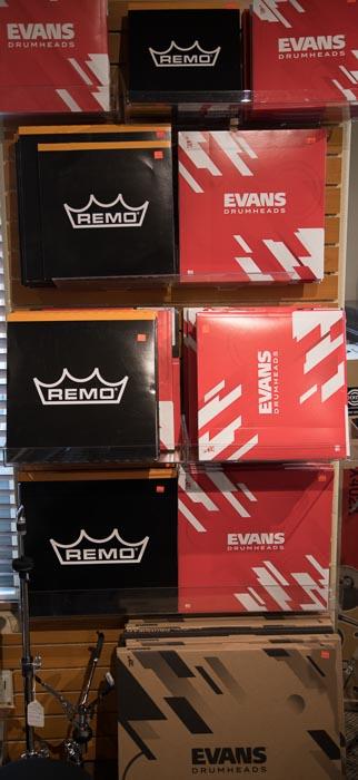 Remo, Evans Drum Heads