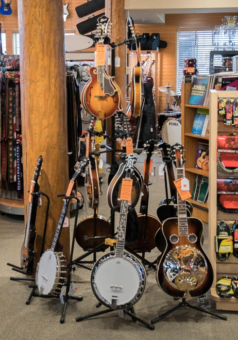 Washburn, Ibanez and Recording King Mandolins, Banjos, Resonator Guitars and Lap Steel Guitars