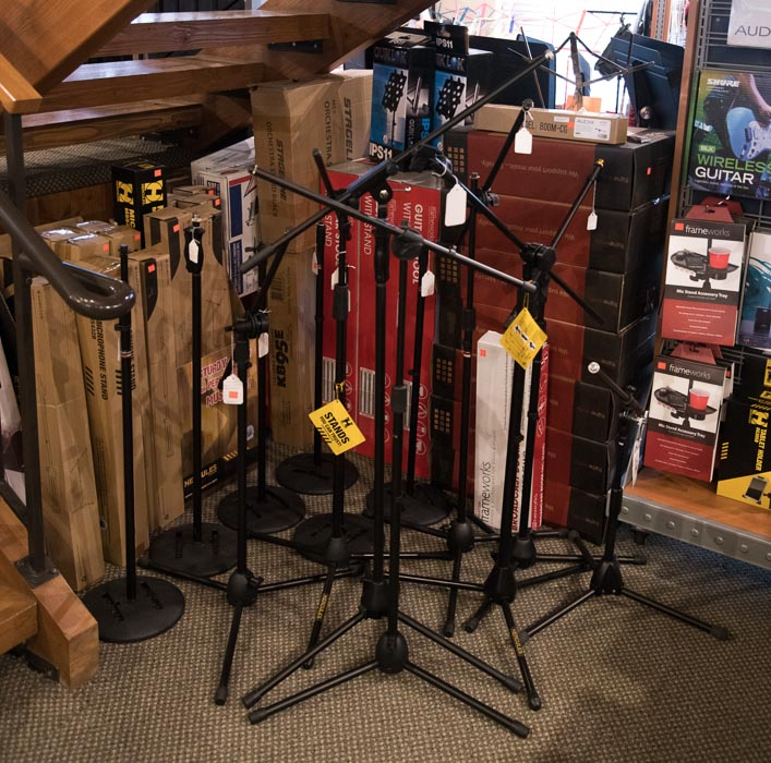 Straight, Boom, Floor and Tabletop  Microphone Stands