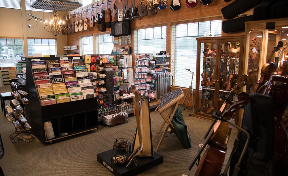Violin Sheet Music and Books, Violin, Viola, and Cello Strings, Stands, Bows, Cases, Rosin, Polish, Cloths, Shoulder Rests, Shoulder Pads, Tuners, Outfits, Fret Board Tape, Violin and Viola Wall Hangers, Harps, Dulcimers 2